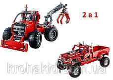 """Конструктор Decool 3362 """"Тюнингованный пикап 2в1""""  (аналог Lego Technic 42029), 1063  дет, фото 2"""