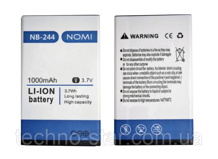 Оригинальный аккумулятор ( АКБ / батарея ) NB-244 для Nomi i244 1000mAh