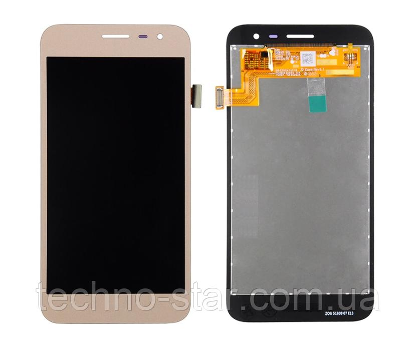 Дисплей (модуль) + тачскрин (сенсор) для Samsung Galaxy J2 Core J260 | J260F (золотой, яркость регулируется)