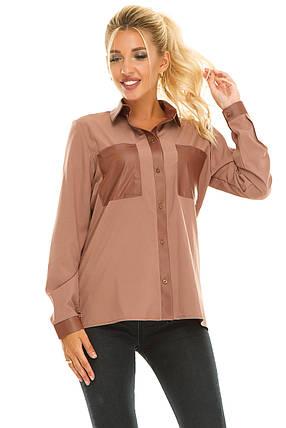 Рубашка 617 бежевая размер 48, фото 2