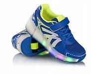 Светящиеся кроссовки ролики с LED подсветкой  Heelys р. 30-33