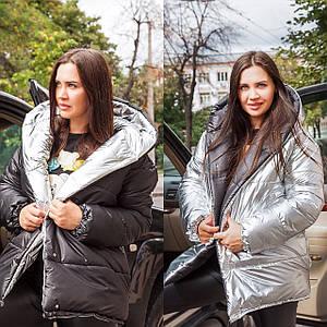 Женская двусторонняя куртка зефирка универсального размера 42-46 р