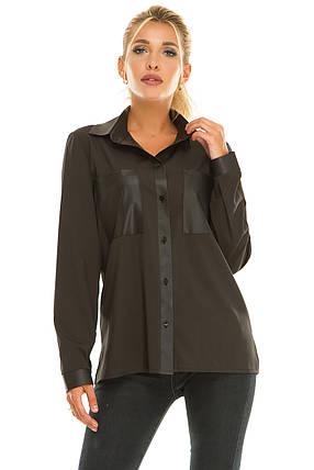 Рубашка 617 черная, фото 2