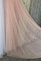 Тюль сетка персиковая