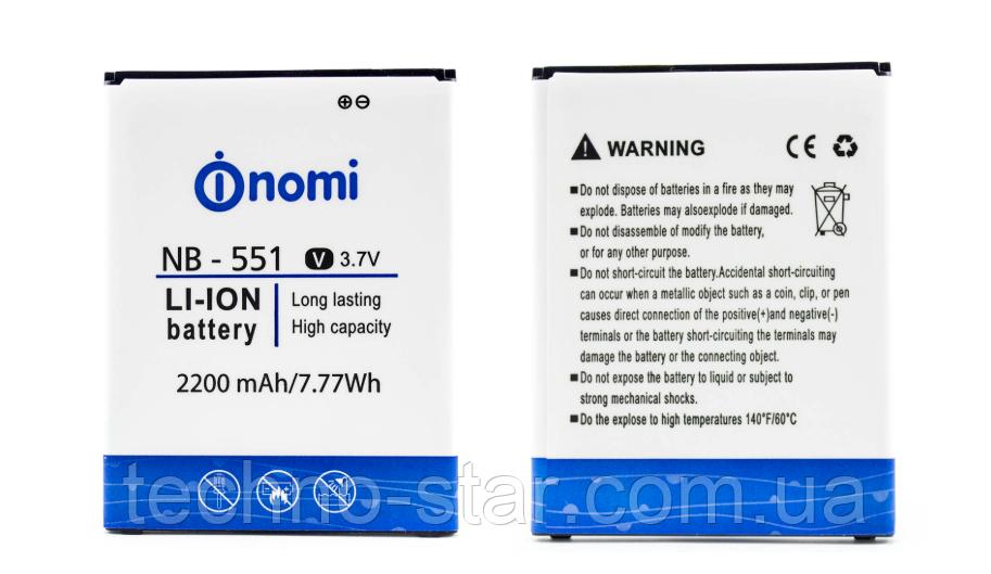Оригинальный аккумулятор ( АКБ / батарея ) NB-551 для Nomi i551 Wave 2200mAh