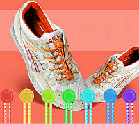 Резиновые шнурки с фиксатором для обуви