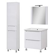 Комплект мебели для ванной комнаты Эльба 60 напольный с зеркалом Юввис