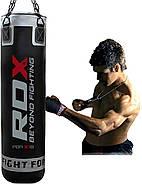 Боксерский мешок RDX Leather Black, фото 5
