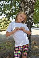 Детские белые футболки для девочек бейка широкая