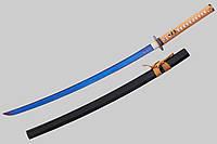 Самурайский меч Катана (Горец-2), с синим, стильным клинком, достойный и солидный подарок мужчине