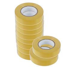 Ізоляційна стрічка ТАКЕЛ 0,13мм  х 19мм х 30м, колір жовтий, фото 2