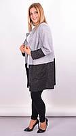 Кардиган женский ангоровый,серый 66-68р