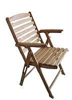 Крісло розкладне дерев'яне
