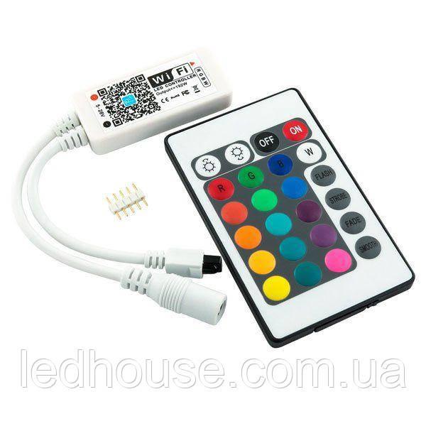 Контроллер RGBW OEM 8А-WIFI-IR24 (2A*4канала)