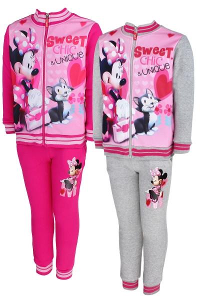 Костюм-двойка для девочек на флисе оптом, Disney, 98-128 см, арт. Min-g-jogset-37 A
