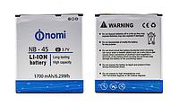 Оригинальный аккумулятор ( АКБ / батарея ) NB-45 для Nomi i450 Trend 1700mAh