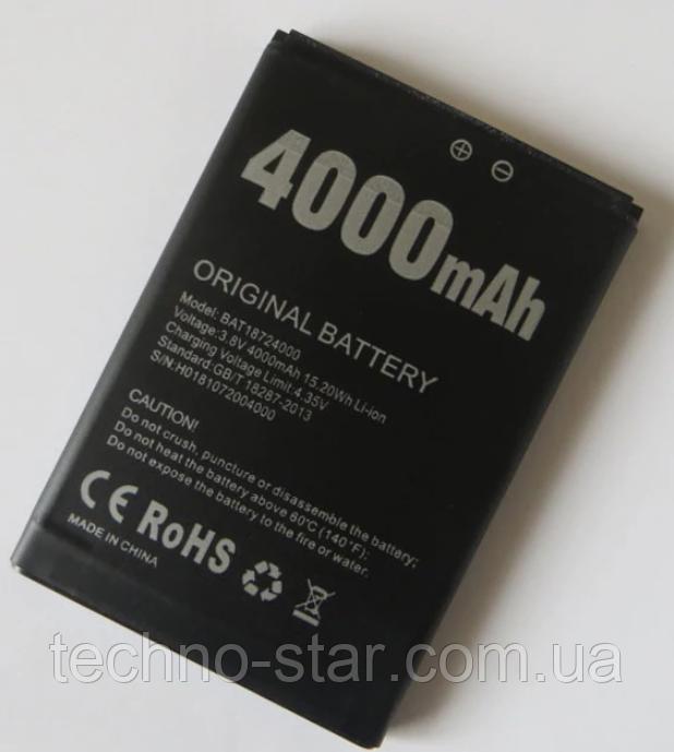 Оригинальный аккумулятор ( АКБ / батарея ) BAT18724000 для Doogee X70 4000mAh