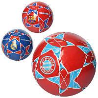 Мяч футбольный 2500-89 размер 5, ПУ1,4мм, ручн,работа,420-430г,3вида(клубы)