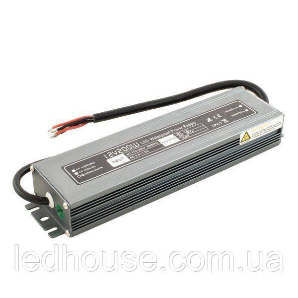 Блок живлення Professional DC12 200W WBP-200 16,6 А герметичний