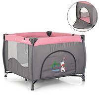 Манеж детский ME 1030 ARENA PINK LEN серо-розовый, фото 1