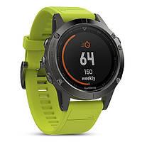 Смарт часы Garmin Fenix 5 - Slate grey with amp yellow band