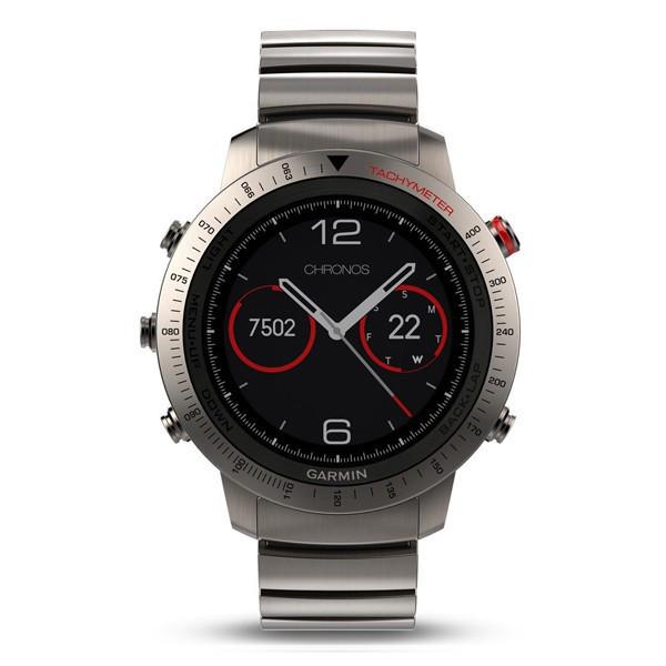 Смарт-часы Garmin Fenix Chronos - Titanium with Brushed Titanium Hybrid Watch Band