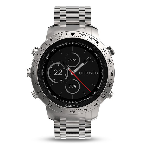Смарт-часы Garmin Fenix Chronos - Steel with Brushed Stainless Steel Watch Band