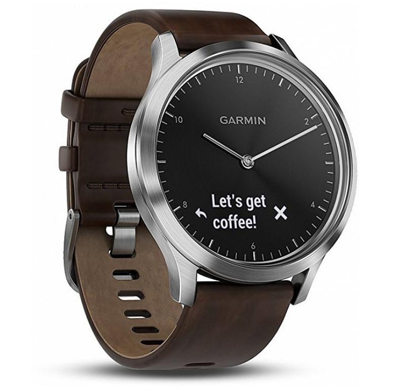Фитнес часы Garmin Vivomove HR, E EU, Premium, Black-Silver, L