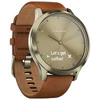 Фитнес часы Garmin Vivomove HR, E EU, Premium, Gold-Gold, S/M