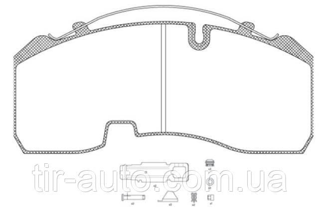 Колодки тормозные дискового тормоза 210x92.5x30 BPW SKH ( 29165 30 )