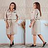 Платье-рубашка больших размеров от 50 до 56  с поясом / 5 цветов 377-300, фото 3