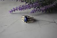 Серебряное кольцо с камнем Синий Звездчатый Сапфир