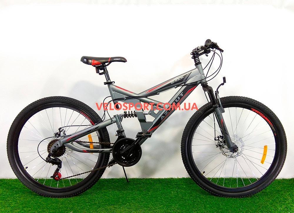 Подростковый велосипед Azimut Shock 24 GD серый