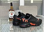 Мужские кроссовки Nike Air Max Tn (черно-оранжевые), фото 4
