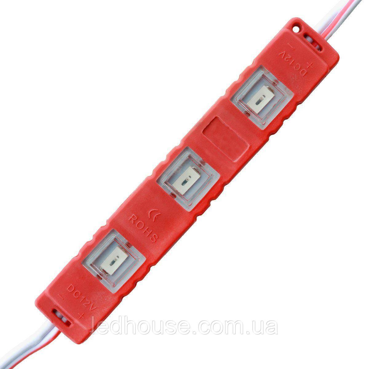 Светодиодный модуль SMD5730-3*0.5W, red, 12В, IP65