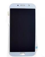 Дисплей (модуль) + тачскрин (сенсор) для Samsung Galaxy A7 2017 A720 | A720F (белый, яркость регулируется)