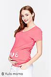 Футболка-реглан для беременных с трогательным принтом Harley LS-29.021, фото 2
