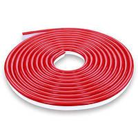 Светодиодная лента NEON 12В 2835-120 R IP67 красный, герметичная, 1м