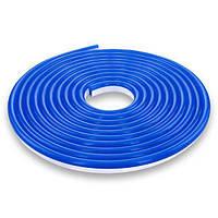 Светодиодная лента NEON 12В 2835-120 B IP67 синий, герметичная, 1м