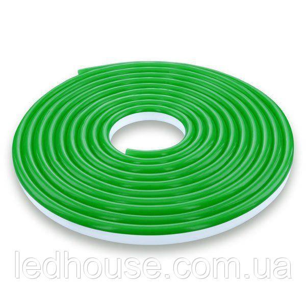 Светодиодная лента NEON 12В 2835-120 G IP67 зеленый, герметичная, 1м