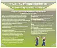 Стенд Правила техніки безпеки в кабінет трудового навчання