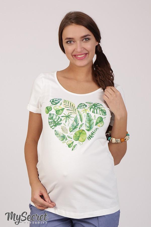 Очень комфортная футболка для беременных Lillit leaves LS-28.101  (s)