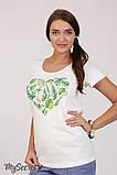 Очень комфортная футболка для беременных Lillit leaves LS-28.101  (s), фото 4