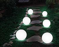 Светильник парковый шар д.150мм, база E27 белый