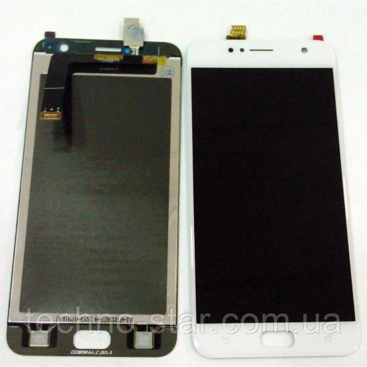 Оригинальный дисплей (модуль) + тачскрин (сенсор) для Asus Zenfone Live ZB553KL (белый цвет)