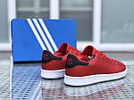 Женские кроссовки Adidas Stan Smith (красно-белые), фото 2