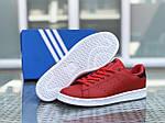 Женские кроссовки Adidas Stan Smith (красно-белые), фото 3