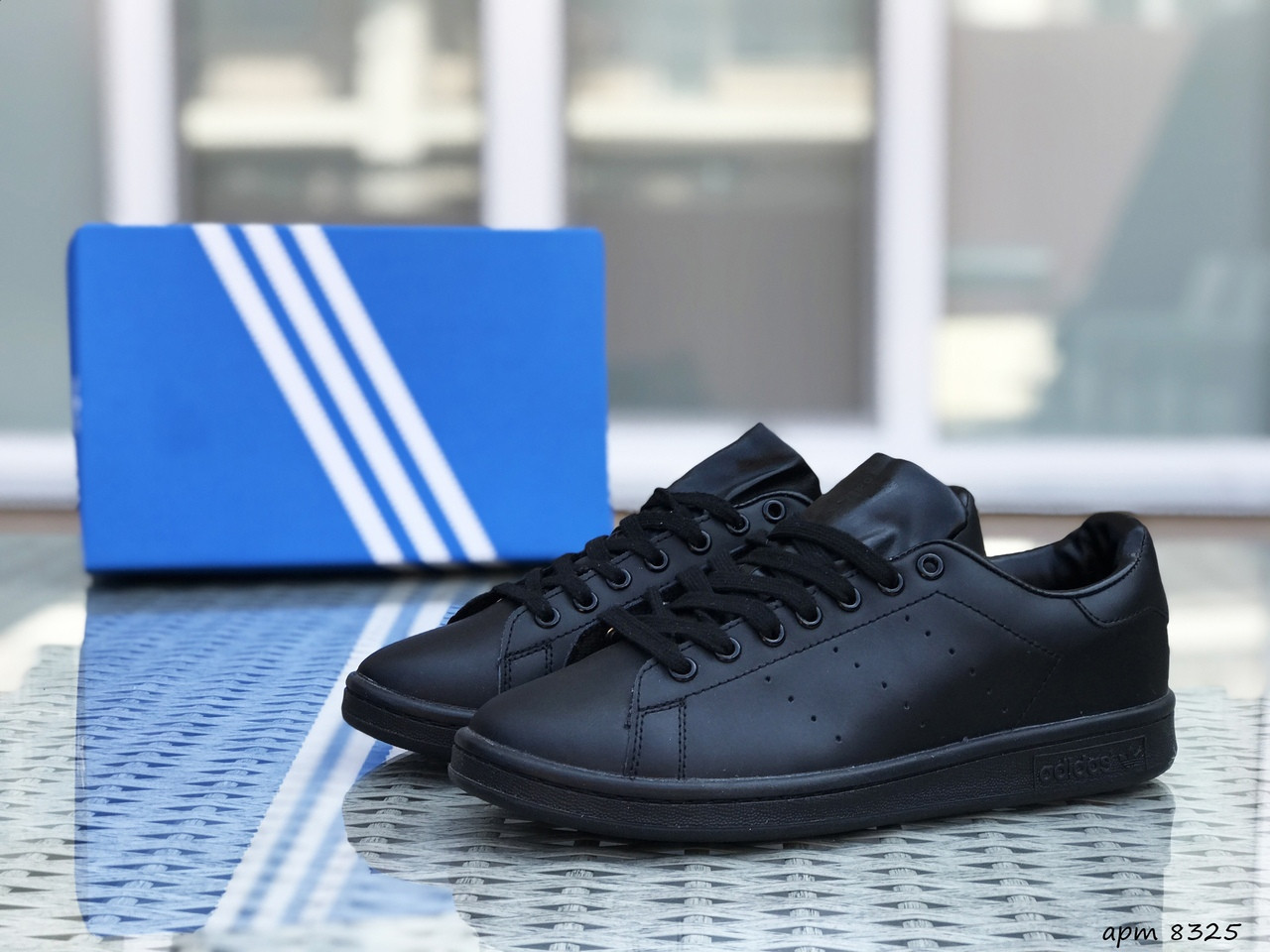 Жіночі кросівки Adidas Stan Smith (чорні)