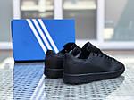 Жіночі кросівки Adidas Stan Smith (чорні), фото 2