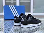 Жіночі кросівки Adidas Stan Smith (чорно-білі), фото 2